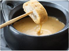 Cauldron Beer Cheese Fondue - fun for a Halloween party