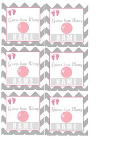 Designs by Denise. guess how many, baby shower game