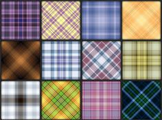 20 Sets of Free Seamless Plaid Patterns and Swatches