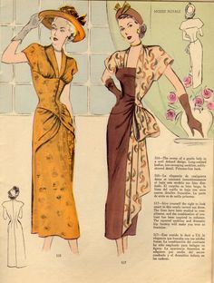 1940s fashions. More