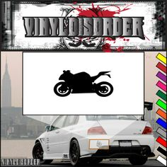Motorcycle Wall Decal - Vinyl Decal - Car Decal - CD045