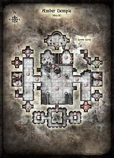 Curse of Strahd - Map of Amber Temple - Lower Level