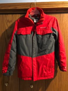 Used a few winters but great condition and lots of life left. Two jackets. Great for kids so they only have one jacket that doubles as 3 The inner shell can be a spring and fall jacket The outer shell can be a rain jacket and then together it's a a warm winter jacket Has thermal heat reflectant on the inside to keep in the heat Boys medium size Columbia brand Thermal Heat, Thermal Jacket, Fall Jackets, Spring And Fall, Columbia, Motorcycle Jacket, Rain Jacket, Shell, Warm
