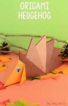 Hedgehog Origami For Kids - Easy Peasy and Fun