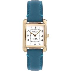 This is graceful! --> Coach Women's Watch PAGE GOLD Case & BLUE Leather w/Box 14502012 #Coach #LuxuryDressStyles #Fashion #Watch #Blue $159.77