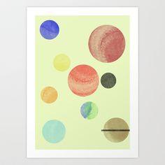 Minimal Solar System Art Print by Francesca Vincis - $14.56