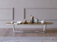 Acheter en ligne Bino | table basse ovale by Miniforms, table basse en acier enduit de poudre