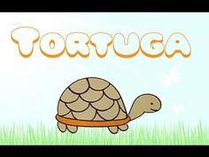 Cómo dibujar una tortuga. Dibujos de animales para niños. - YouTube