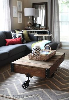 Beautiful living room updates from TheBlissfulBee.com
