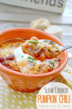 slow cooker pumpki chili