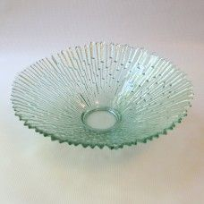 Pavel Panek green glass bowl, Libochovice, Czech - like Revontulet, Humppila. £25 incl P&P from www.coco-collectables.co.uk
