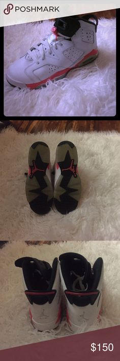 JORDAN RETRO INFRARED 6 AUTHENTIC Jordan retro 6 infrared 2014. Size 5 in youth and 6.5 in woman's. Worn 3 times great condition. Only selling because they are a bit big so they sit in my closet!:( Jordan Shoes Sneakers