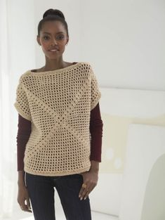 Filet Mesh Top By Mari Lynn Patrick - Free Crochet Pattern - (joann.lionbrand)
