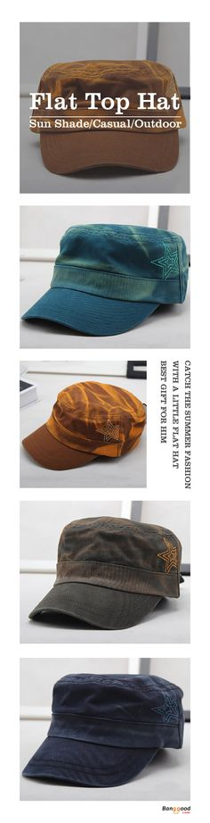 US$10.88+Free shipping. Men's Hat, Flat Top Cap, Casual, Outdoor, Breathable, Sun Shade. Best gift for him~