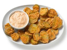 Almost-Famous Fried Pickles from FoodNetwork.com
