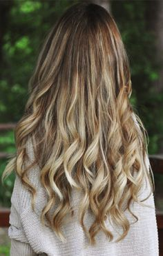 Gorgeous highlights... One day my hair will be long enough!
