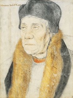 William Warham, Archbishop of Canterbury - Sketches by Hans Holbein the Younger, Gouache, Renaissance Portraits, Renaissance Artists, Portrait Sketches, Portrait Art, Canterbury, Henri Viii, Hans Holbein The Younger, Catherine Of Aragon