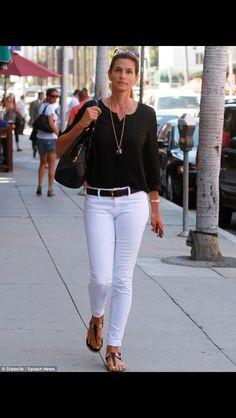 Ever stylish, Cindy Crawford.