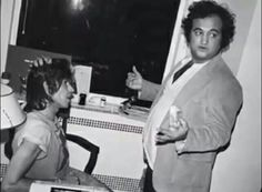 John Belushi with Keith Richards