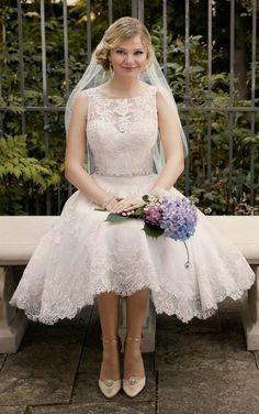 TOP 45 TEA-LENGTH WEDDING DRESS WITH COLOR ON PINTEREST