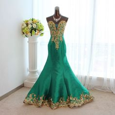 Quality luxury 2013 green long design formal dress mermaid slim embroidery the bride trailing short formal dress on Aliexpress.com