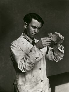 Laboratory technician, by August Sander, 1938 base for Clemens