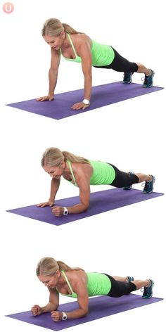 7 Awesome Strength Moves For Sculpted Arms: Army Crawl Plank