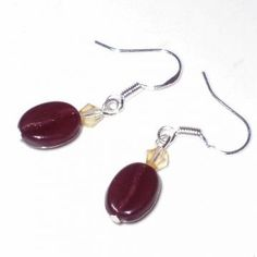 Coffee Espresso Bean Java Earrings by lonestarbeadery for $5.00
