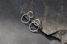 New double circle sterling silver geometric minimal earrings on my etsy shop.  https://www.etsy.com/uk/listing/524287295/handmade-sterling-silver-double-circle
