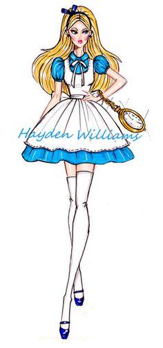 The Disney Diva's collection by Hayden Williams: Alice in Wonderland Disney Princess. art. creative. fashion. #ForeverEileen