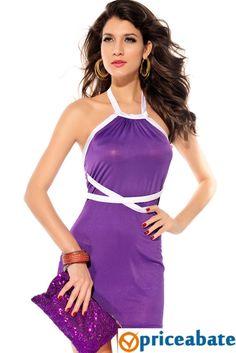 Priceabate Colorblock Bra Top Dress #Unbranded #StretchBodycon #Clubwear