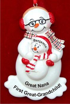 Great Grandma & Me Personalized Christmas Ornament
