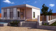 Casas de madera, modernas, modulares  y cúbicas,  Ecoandeco Garage Doors, Mansions, House Styles, Outdoor Decor, Home Decor, Interior Walls, Wooden Houses, Modular Homes, Style At Home