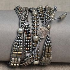 charcoal wrap bracelet - Google Search