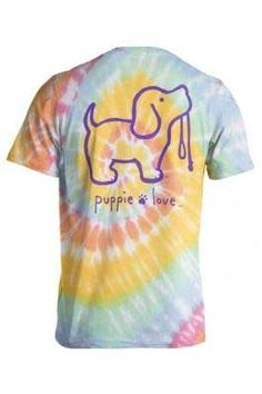 c0151a56d Puppie Love Tie Dye Puppy T-Shirt for Women in Tie Dye  2 SPL523