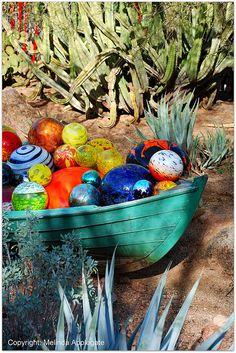Chihuly Glass Art on Display at the Desert Botanical Garden, Phoenix, Arizona