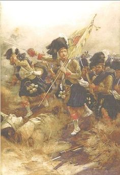 Charge of The 93rd Highlanders at the Battle of Cawnpore during the Indian Mutiny, November 1857, by W. Skeoch Cumming.