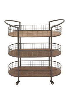 Metal & Wood 3 Tiered Cart | Sponsored by Nordstrom Rack.