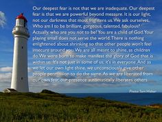 Our greatest fear....