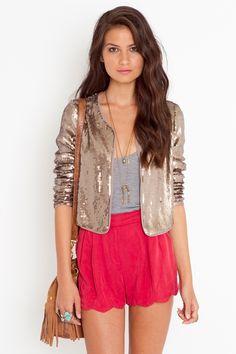 bronze sequin cardigan