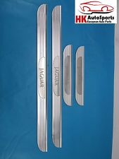 JAGUAR S-TYPE 2000-2004 DOOR INTERIOR FOOT MOLDING TRIM SCUFF PLATE SET CHROME