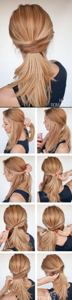 Quick & easy ponytail hairstyle