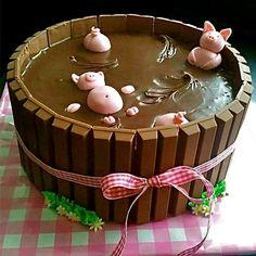 Funny cake! #chocolate #pig