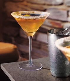 Grey Goose La Poire Spiced Apple Martini cocktail, perfect for your holiday celebrations.
