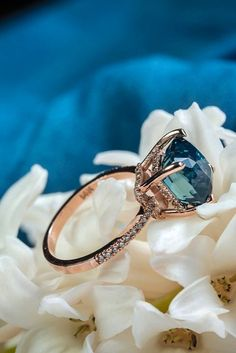 18 Gemstone Engagement Rings For A Unique Woman ❤ gemstone engagement rings rose gold sapphire diamond unique ❤ More on the blog: https://ohsoperfectproposal.com/gemstone-engagement-rings/