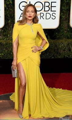 The 73rd Golden Globe Awards Celebrity Dresses Yellow