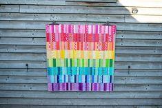 Bargello Quilt Patterns, Patchwork Quilt Patterns, Beginner Quilt Patterns, Quilt Patterns Free, Quilt Tutorials, Clamshell Quilt, Liberty Quilt, Rainbow Quilt, Rainbow Blocks