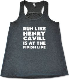 Constantly Varied Women's Run Like Henry Cavill Is At The Finish Line Tank Top at Amazon Women's Clothing store: