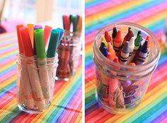 The Larson Lingo: Kate's Rainbow Art Party