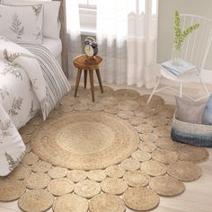 Round Highwood Hand-Braided Natural Area Rug Anchor your casual and tasteful entertainment ensemble with this alluring area rug, a versatile addition that blends easily into your existing layout. Hand-braided from 100 percent jute, this. Natural Fiber Rugs, Natural Area Rugs, Natural Rug, Natural Wood, Natural Carpet, Diy Home Crafts, Diy Home Decor, Jute Crafts, Rope Rug